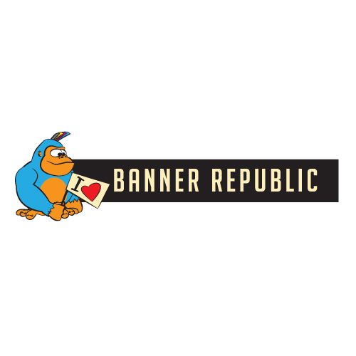 banner republic logo design