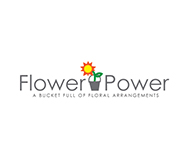 flower power florist logo