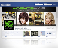 kosmos hair salon facebook cover