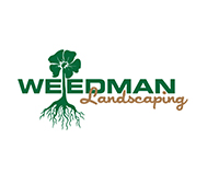 weedman lawn mowing and design logo